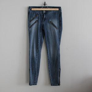 Madewell Moto Zip Ankle Skinny Jeans